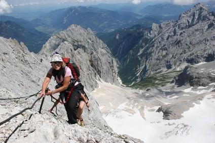 Klettersteig Zugspitze Höllental : Klettersteig zugspitze gipfelsturm auf deutschlands höchsten berg