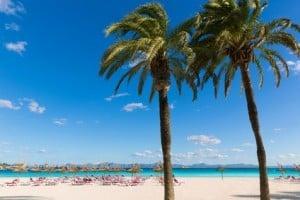 Mallorca Platja de Alcudia beach in Majorca