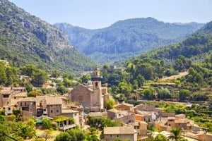 Mountain village Valldemosa in Mallorca