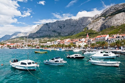 Makarska harbor, Croatia