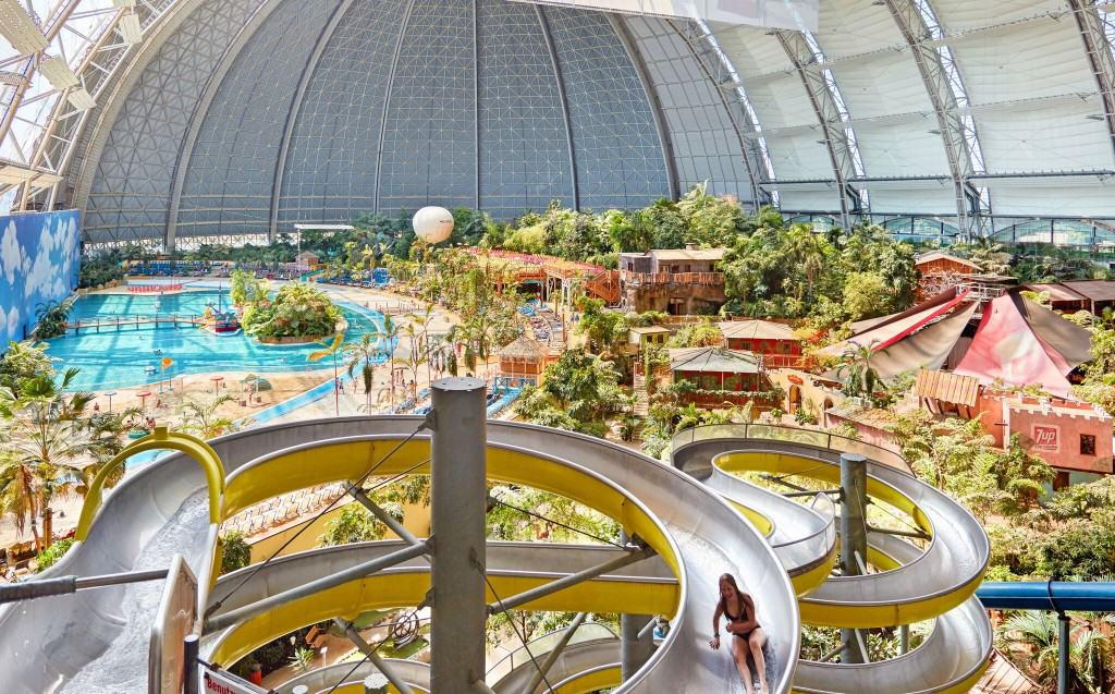 Indoor Tropical Island Water Park In Germany