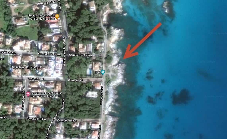 Cala Rajada Bucht bei Google Street View
