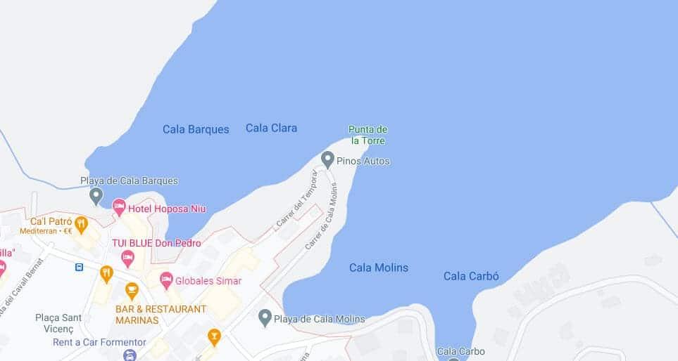 Cala Sant Vicenç_Google Maps