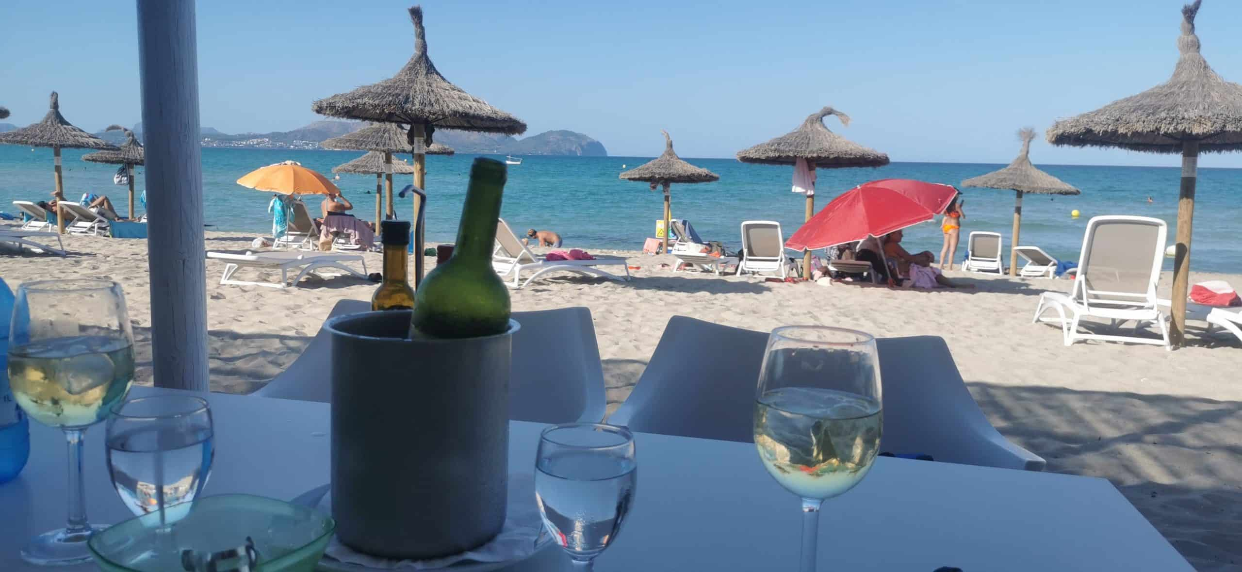 Playa de Muro Ausblick Restaurant Opa_Oma