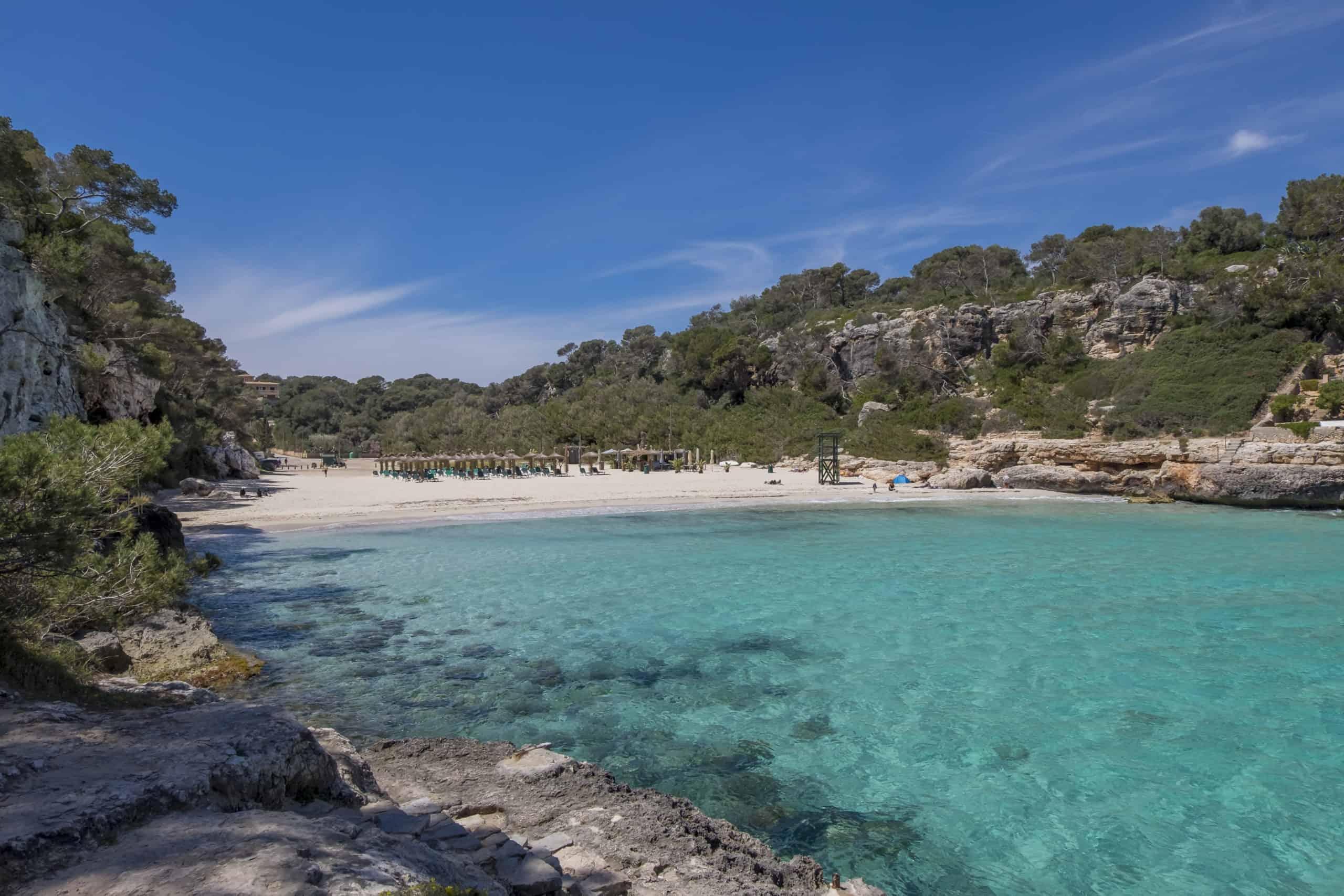 Strand Cala Llombards, Santanyi, Mallorca, Balearen, Spanien