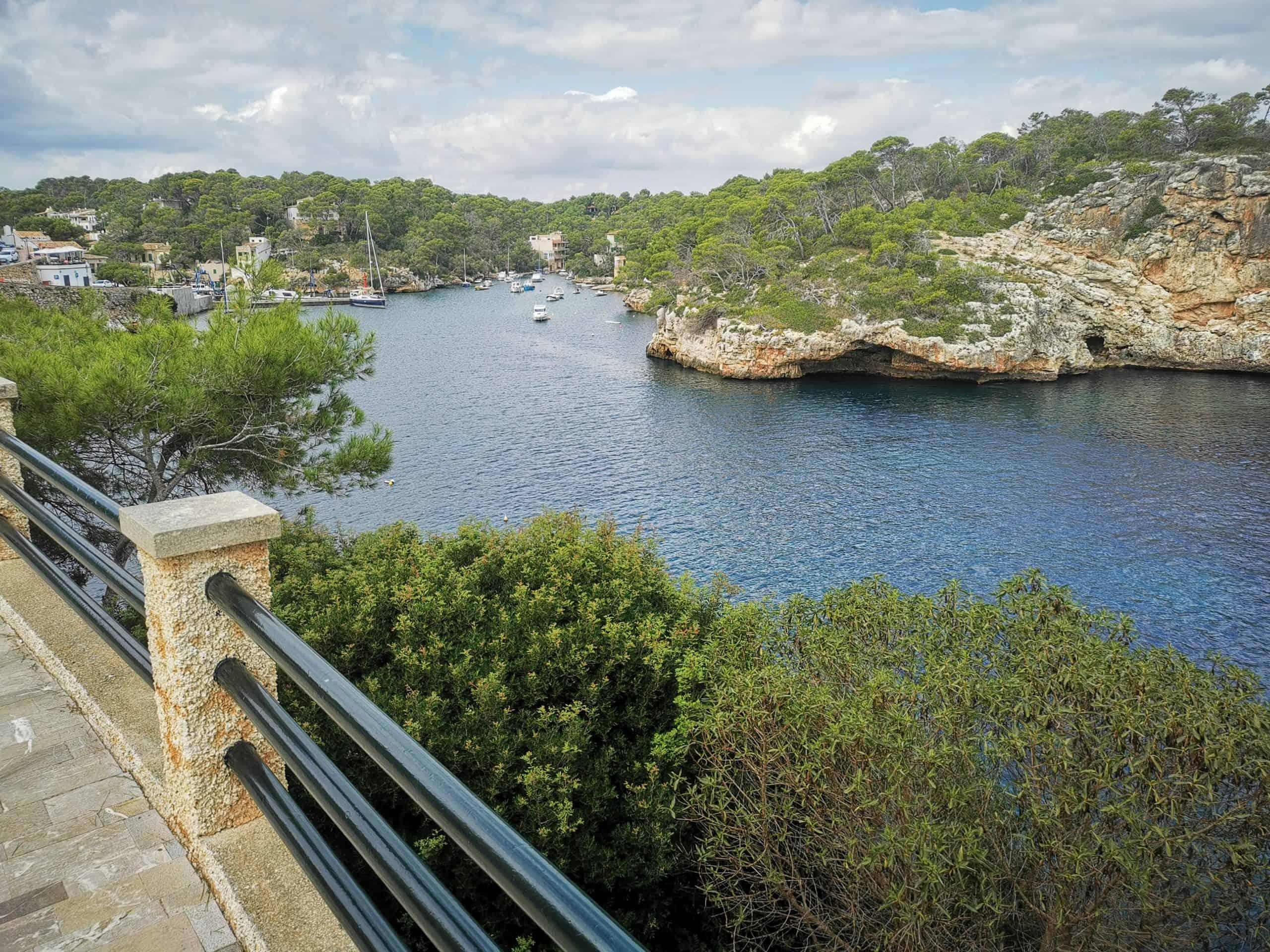 Cala Figuera Mallorca Aussicht auf Strand